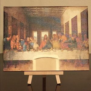 THE LAST SUPPER - Art Plaque and Easel